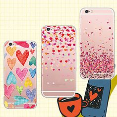 16202ecc0a7 [$3.99] Case For iPhone 5 / Apple iPhone 5 Case Transparent / Pattern Back  Cover Heart Soft TPU for iPhone SE / 5s / iPhone 5