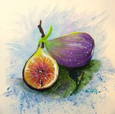 Minnie Valero: DROUGHT RESISTANT FRUIT: FIG, acrylic on canvas