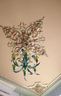 "This lovely chandelier is from our feature ""Cool and Collected"""