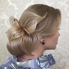 Hairstyle for party Unique Wedding Hairstyles, Creative Hairstyles, Peinado Updo, Curly Hair Styles, Natural Hair Styles, Competition Hair, Wedding Hair Inspiration, Love Hair, Hair Art