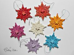 Christmas ornament-quilled snowflake-ornament tree-quilling paper-paper ornament