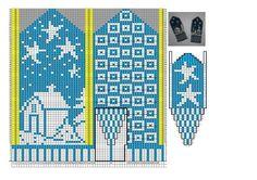 View album on Yandex. Knitting Charts, Knitting Stitches, Hand Knitting, Knitting Patterns, Fingerless Mittens, Knit Mittens, Knitted Gloves, Crochet Mittens Free Pattern, Crochet Chart