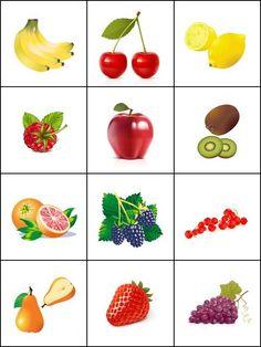 Jeu de mémoire, les fruits. Imprimer 2 fois la planche pour créer un jeu de mémory. Nutrition Activities, Montessori Activities, Toddler Activities, Healthy Prepared Meals, Healthy Eating Habits, Fruit And Veg, Fruits And Vegetables, Printable Cards, Printables
