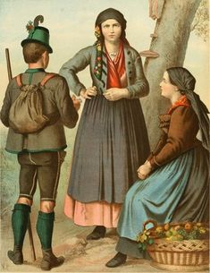German Folk Dress (1887) | The Public Domain Review
