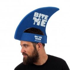 Shark Week Foam Fin Hat...I think all your guests should wear these.
