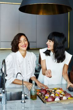Athena Calderone and Laila Gohar Talk Cooking, Entertaining and Go-To Recipes  - HarpersBAZAAR.com
