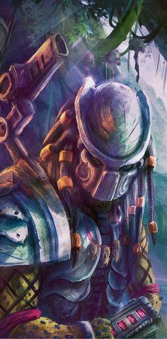 Predator Comics, Wolf Predator, Predator Art, Predator Movie, Alien Vs Predator, Predator Cosplay, Fantasy Armor, Michael Myers, Geek Art