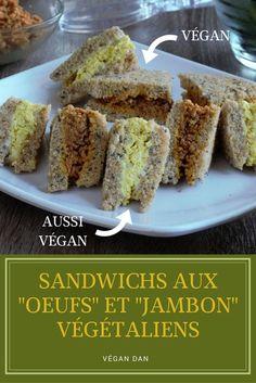 Sandwich Vegan, Sandwiches, Banana Bread, French Toast, Breakfast, Desserts, Food, Liquid Smoke, Vegetarische Rezepte