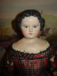 Early c.1860 s 19  Greiner Antique Doll
