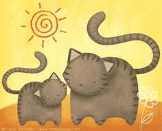 Kitty & mom by casquilla, via Flickr