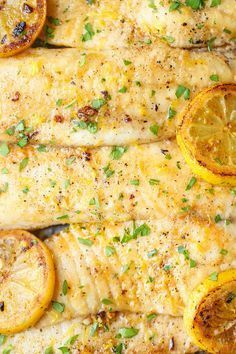 Baked Lemon Butter Tilapia - The easiest, most effortless 20 min meal ever from start to finish. And it's all made in a single pan.