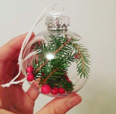 Clear christmas ornament
