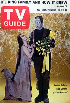 tv  guide  covers   The Munsters (1964-66) TV Guide Magazine Cover July 10, 1965