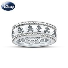 Mickey Mouse ring. I love that theres a design on both the inside and outside of the band
