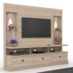 Foto 1 - home theater dinamarca pérola - lukaliam tv wall design, wall unit designs Tv Unit Interior Design, Tv Unit Furniture Design, Tv Wall Design, Lcd Unit Design, Tv Furniture, Wall Shelves Design, Storage Shelves, Modern Tv Room, Modern Tv Wall Units