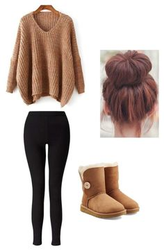 """Untitled #87"" by madisenharris on Polyvore featuring Miss Selfridge and UGG"