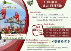 12 Best Nebosh Course In Saudi Arabia Green World Group Images