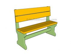 Build a beautiful bench with these free DIY woodworking plans: free bench plan … - Woodworking Ideas Woodworking Furniture Plans, Woodworking Equipment, Woodworking Projects That Sell, Learn Woodworking, Woodworking Supplies, Popular Woodworking, Woodworking Ideas, Youtube Woodworking, Woodworking Basics