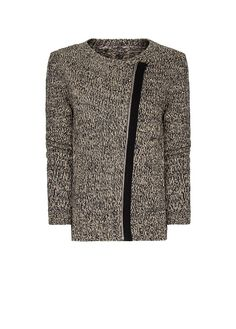 MANGO - Zipped flecked cardigan