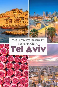 The perfect Tel Aviv itinerary: A guide to Israel's vibrant city : From exploring its captivating, ancient port city Jaffa to the best eats and shopping spots, here's the perfect itinerary for exploring cool, modern Tel Aviv. Cool Places To Visit, Places To Travel, Travel Destinations, Vacation Places, Asia Travel, Solo Travel, European Travel, European Destination, Cruise Travel