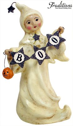 halloween figurine ~ nicol sayre folk art collectibles