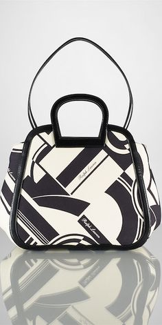 Ralph Lauren Medium Art Deco–Print Tote ~TNT~