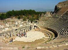 They were focused on entertainment so they built theaters instead of temples during this time; as seen by the Grand Theater of Ephesus.