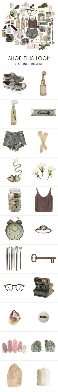 """Vintage Musician"" by causingpanicatthetheater on Polyvore featuring Converse, Cultural Intrigue, Miss Bibi, Fogal, La Ligne, Dot & Bo, Bourjois, Monza, Jayson Home and Oliver Peoples"