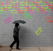 Aakash Nihalani - Arte de Rua e Arte Gráfica Dank Neon-Klebeband - tape art - Tape Art, Street Art Utopia, Street Art Graffiti, Banksy Graffiti, Bansky, Graffiti Artwork, Graffiti Wallpaper, Graffiti Painting, Foto Art