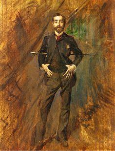 nolollygagging:    Portrait of John Singer Sargent (ca. 1890) by Giovanni Boldini