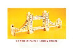 London Bridge 3-D Wooden Puzzle