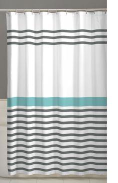 Maytex Simple Stripe Fabric Shower Curtain 70 X 72 Inch Striped