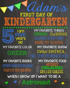 Boy First Day of School Chalkboard Sign by LaLaExpressions on Etsy, $20.00