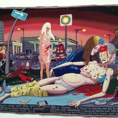 Brilliant tapestry by Grayson Perry Grayson Perry Tapestry, British Schools, Common Ground, Winter's Tale, Social Change, Sober, Tapestries, Irish, Horror