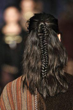 Fishtail braid at Etro F/W '14 // #hair