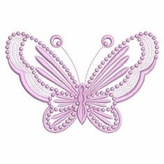 candlewicking embroidery designs   Candlewicking Butterfly embroidery design