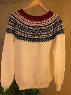 Lisbets hobbyblogg: Enda en hvit marius-genser...
