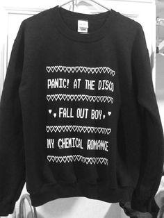 Panic At The Disco Rock Band Lyrics Collage Quote Unisex Jumper Sweatshirt Top