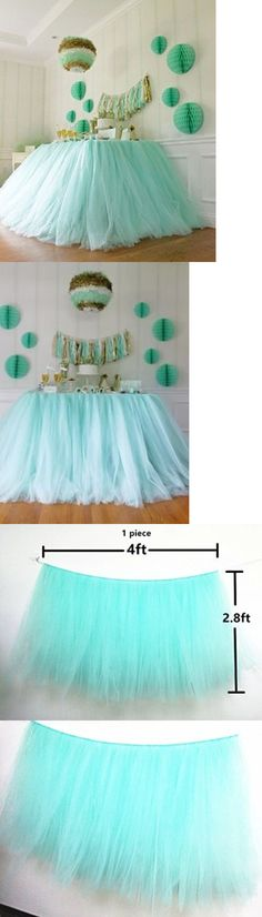 Tulle 20942: Tutu Table Skirt , Mint Tulle Tutu Table Skirt Decor, Birthday -> BUY IT NOW ONLY: $87.31 on eBay!