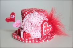 Be Mine Valentines Day Mini Top Hat Headband