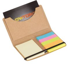 ECO CARD HOLDER WITH STICKY NOTES