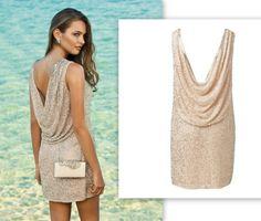 Sırt dekolteli ışıl ışıl elbiseyle nasıl görüneceğinizi merak ediyor musunuz?