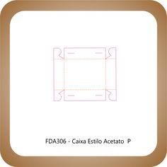 Faca Corte e Vinco FDA306 - Caixa de Acetato  P                                                                                                                                                     Mais