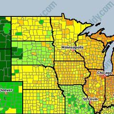 USA National Gas Price Heat Map GasBuddycom Travels