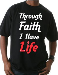 "Get yours while supplies last: ""Through Faith I Have Life"" http://www.sacredapparel.net"