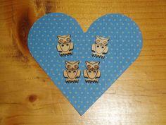 Wooden owl buttons £0.60