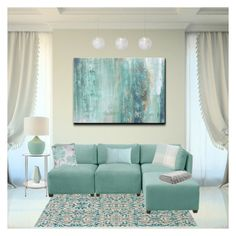"""""""Light Blue Living Room"""" by fashiongirlecho ❤ liked on Polyvore featuring interior, interiors, interior design, home, home decor, interior decorating, Ready2hangart, Home Decorators Collection, Skyline and Resident"""