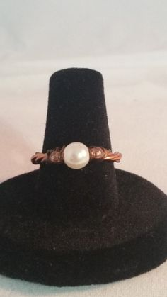 Pearl and Copper Wire Ring – Creations by Tammy