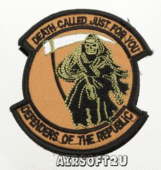 Airsoft Velcro Patch Death Called Just For You