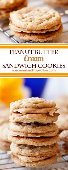 Soft peanut butter oatmeal cookies with a luscious peanut butter cream filling. Girl Scout copy cat cookies, but even better! Soft peanut butter oatmeal cookies with a luscious peanut butter cream filling. Girl Scout copy cat cookies, but even better! Mini Desserts, Strawberry Desserts, Easy Gluten Free Desserts, Easy Desserts, Delicious Desserts, Yummy Food, Oreo Dessert, Dessert Bars, Best Dessert Recipes